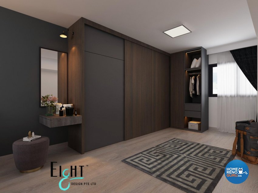 Contemporary, Minimalist, Modern Design - Bedroom - HDB 3 Room - Design by Eight Design Pte Ltd