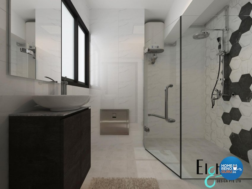 Contemporary, Minimalist, Modern Design - Bathroom - HDB 3 Room - Design by Eight Design Pte Ltd