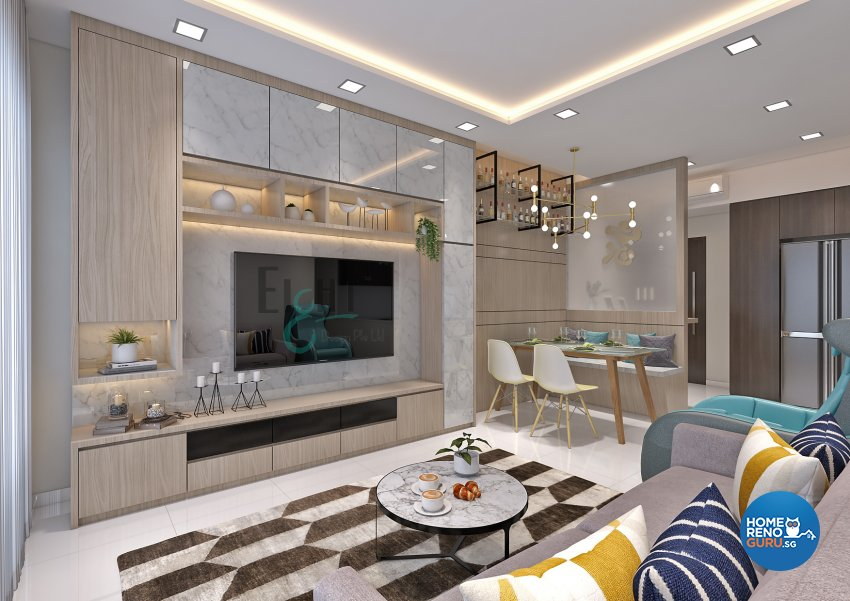 Contemporary, Modern, Others Design - Living Room - Condominium - Design by Eight Design Pte Ltd