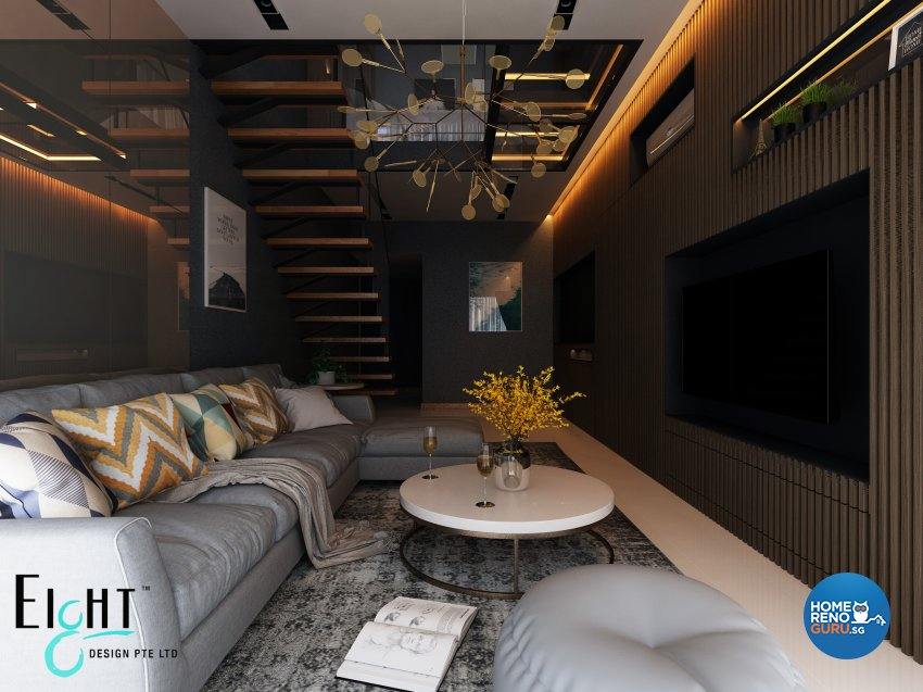 Contemporary Design - Living Room - Condominium - Design by Eight Design Pte Ltd