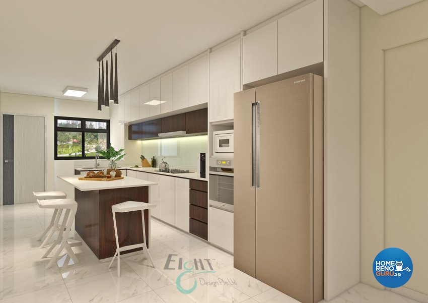 Modern Design - Kitchen - HDB 4 Room - Design by Eight Design Pte Ltd