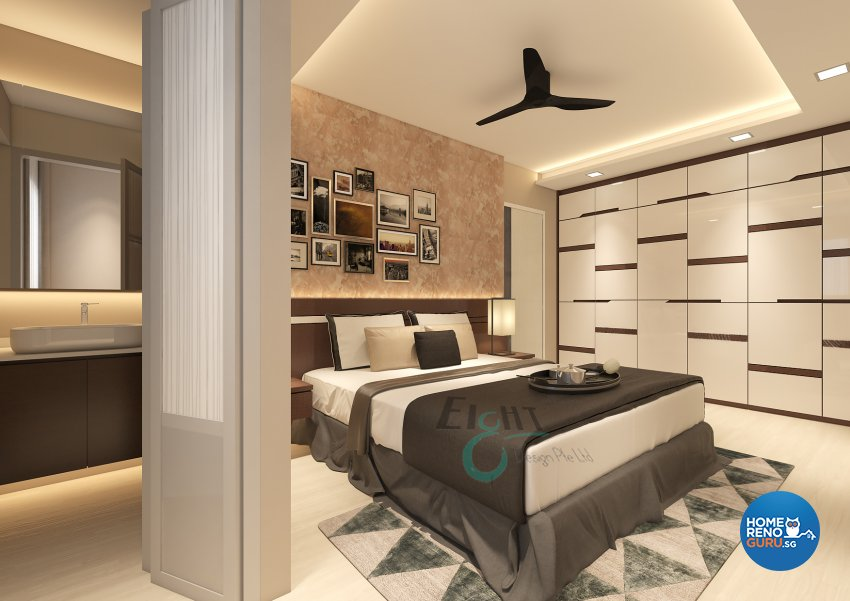 Modern Design - Bedroom - HDB 4 Room - Design by Eight Design Pte Ltd