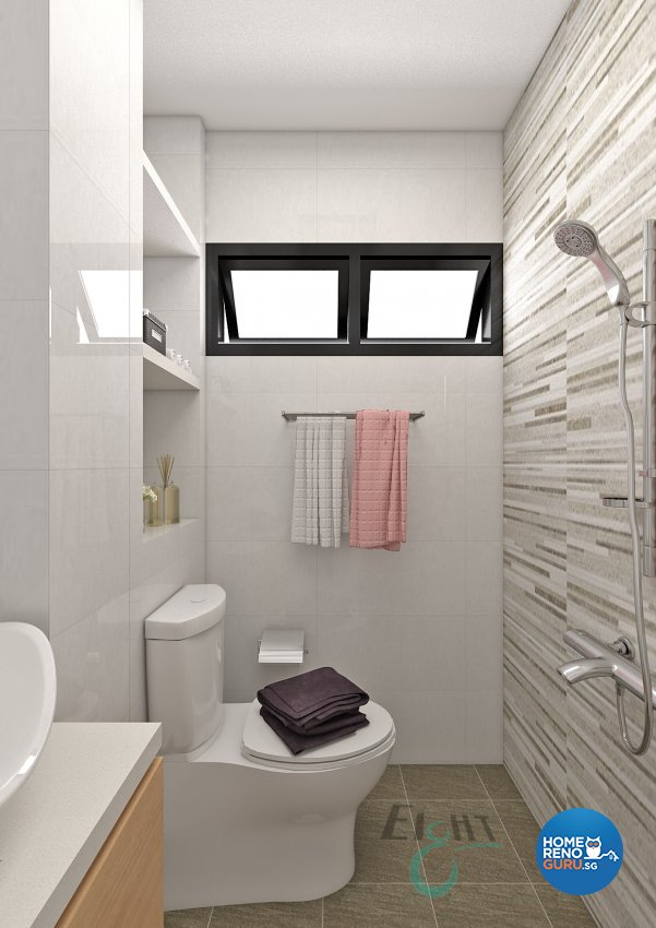 Modern Design - Bathroom - HDB 4 Room - Design by Eight Design Pte Ltd