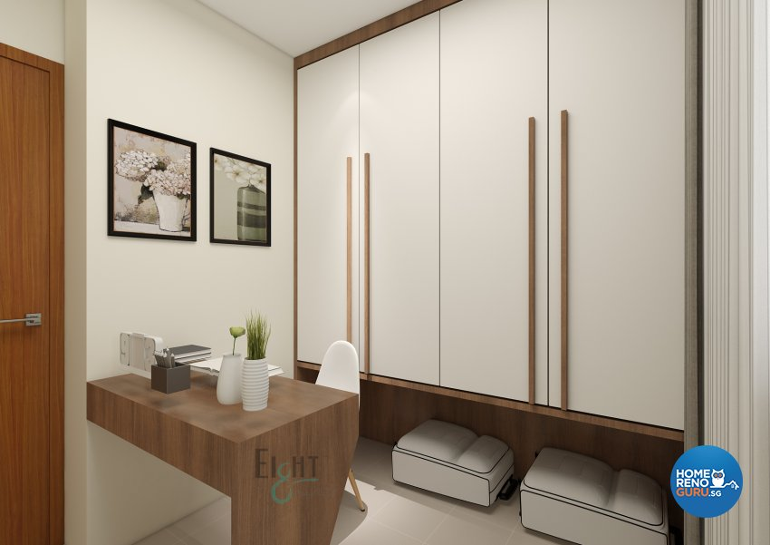 Modern Design - Study Room - HDB 4 Room - Design by Eight Design Pte Ltd