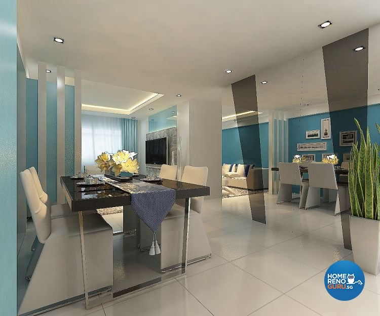 Contemporary, Modern Design - Dining Room - HDB 4 Room - Design by Eight Design Pte Ltd