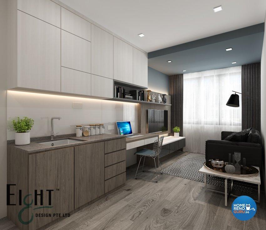 Contemporary, Modern Design - Living Room - Landed House - Design by Eight Design Pte Ltd