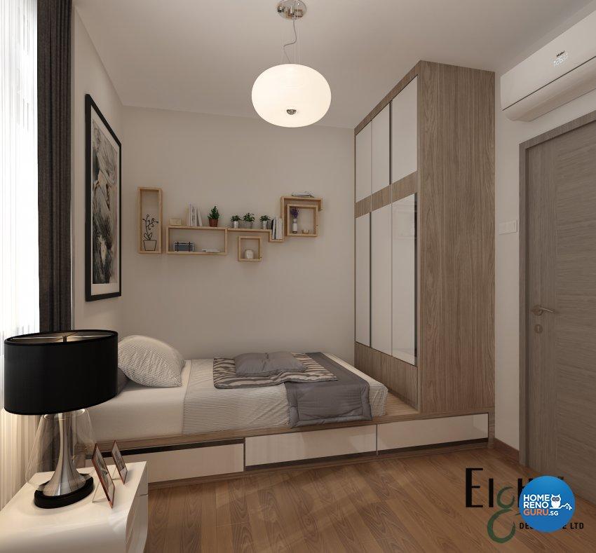 Contemporary, Modern Design - Bedroom - Landed House - Design by Eight Design Pte Ltd
