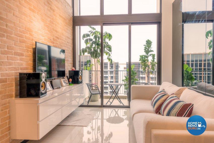 Contemporary Design - Living Room - Condominium - Design by Einstein Studio Pte Ltd