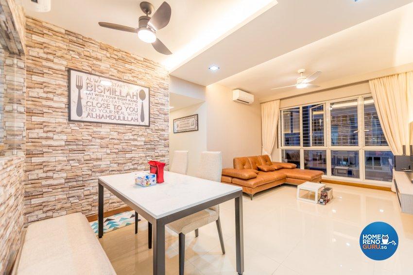 Modern, Rustic Design - Dining Room - Condominium - Design by Einstein Studio Pte Ltd