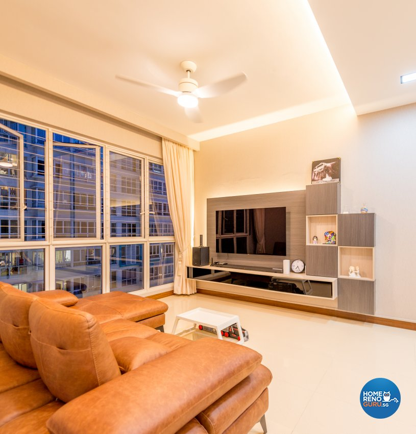 Modern, Rustic Design - Living Room - Condominium - Design by Einstein Studio Pte Ltd