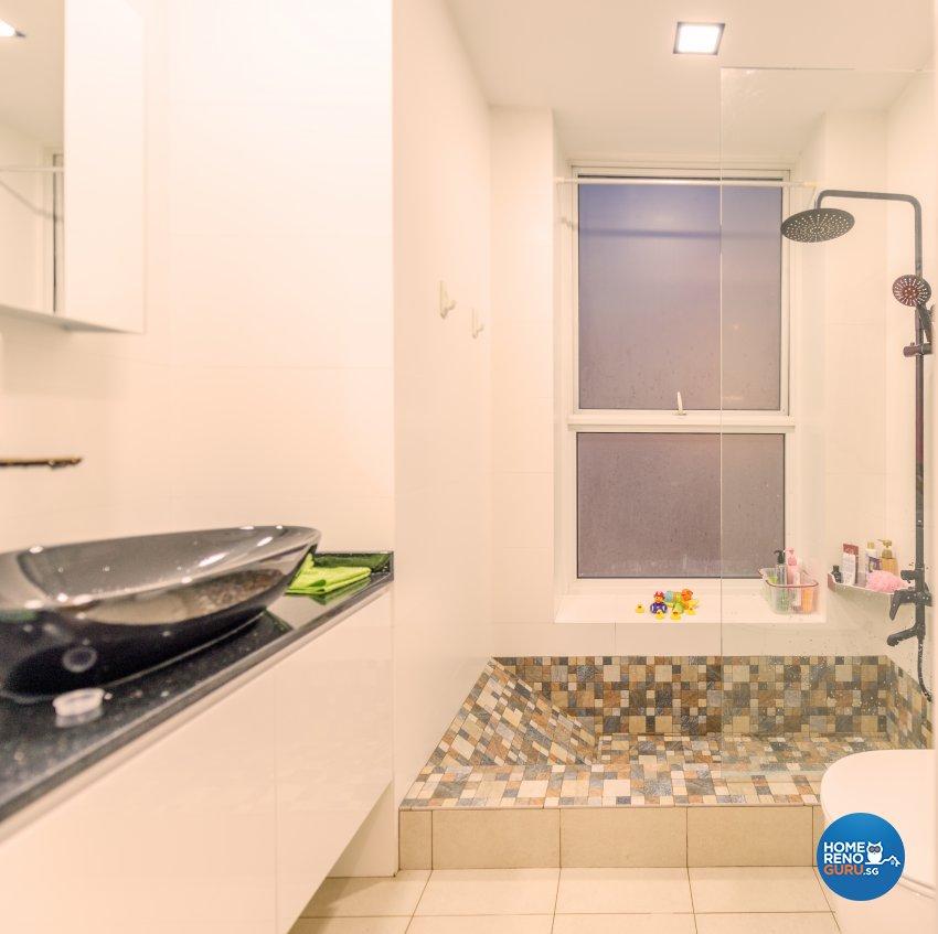 Modern, Rustic Design - Bathroom - Condominium - Design by Einstein Studio Pte Ltd