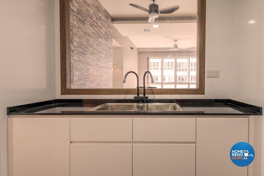 Modern, Rustic Design - Kitchen - Condominium - Design by Einstein Studio Pte Ltd