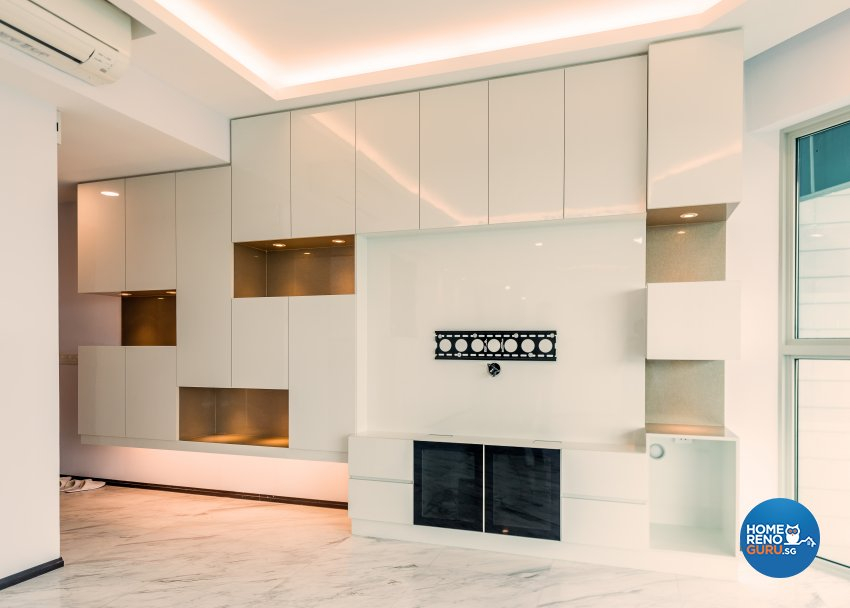 Contemporary, Modern Design - Living Room - Condominium - Design by Einstein Studio Pte Ltd