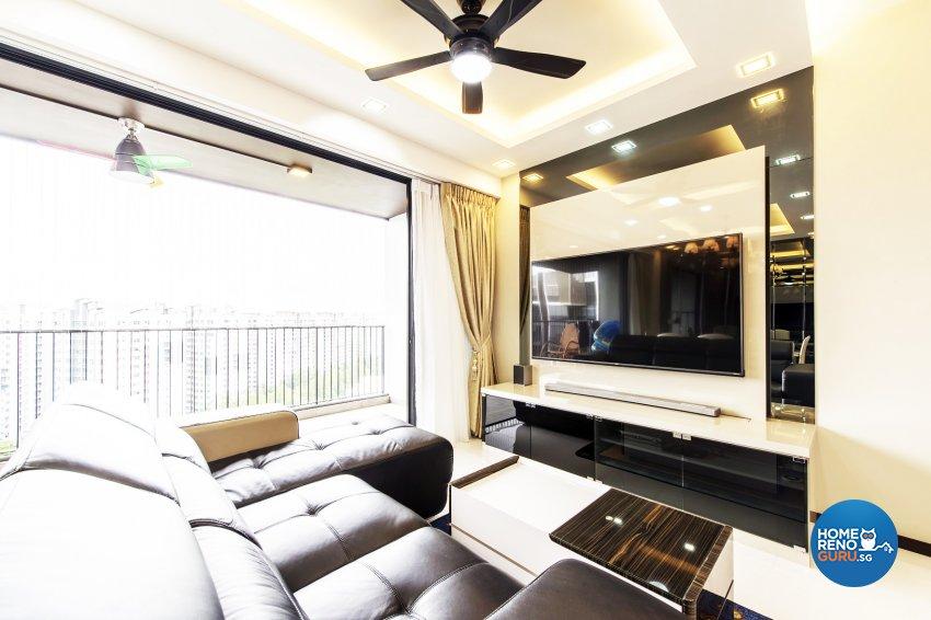 Modern Design - Living Room - Condominium - Design by Einstein Studio Pte Ltd