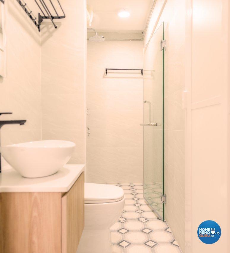 Modern, Others, Tropical Design - Bathroom - HDB 3 Room - Design by Einstein Studio Pte Ltd