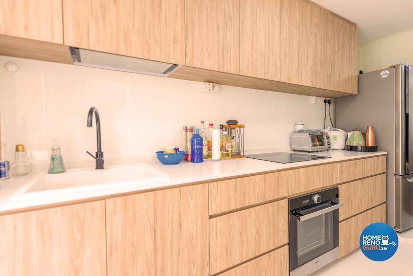 Modern, Others, Tropical Design - Kitchen - HDB 3 Room - Design by Einstein Studio Pte Ltd
