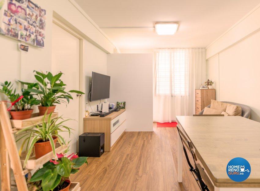 Modern, Others, Tropical Design - Living Room - HDB 3 Room - Design by Einstein Studio Pte Ltd