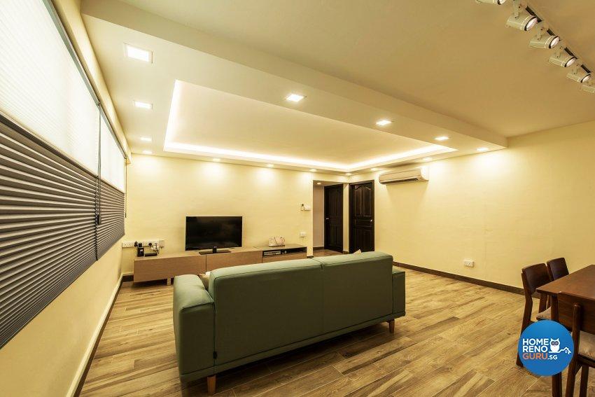 Minimalist, Modern Design - Living Room - HDB 4 Room - Design by Einstein Studio Pte Ltd