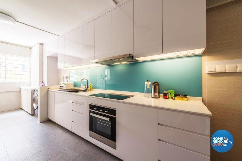 Minimalist, Modern Design - Kitchen - HDB 4 Room - Design by Einstein Studio Pte Ltd