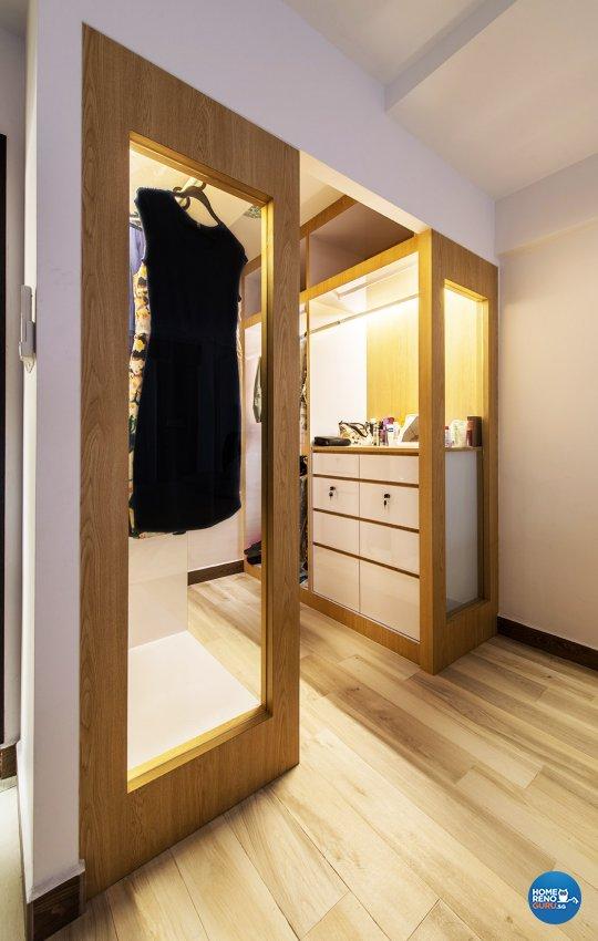 Minimalist, Modern Design - Bedroom - HDB 4 Room - Design by Einstein Studio Pte Ltd