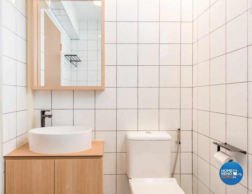 Minimalist, Scandinavian Design - Bathroom - HDB 4 Room - Design by Einstein Studio Pte Ltd