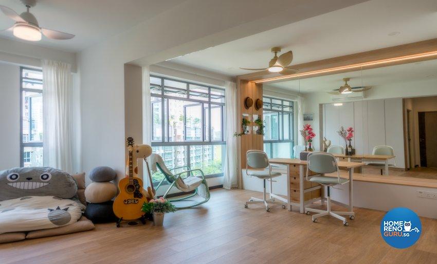 Minimalist, Scandinavian Design - Living Room - HDB 4 Room - Design by Einstein Studio Pte Ltd
