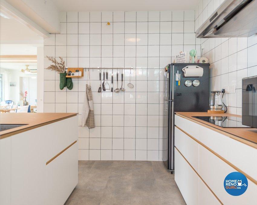 Minimalist, Scandinavian Design - Kitchen - HDB 4 Room - Design by Einstein Studio Pte Ltd