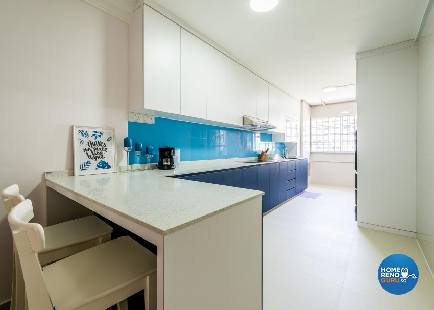 Modern Design - Kitchen - HDB 4 Room - Design by Einstein Studio Pte Ltd