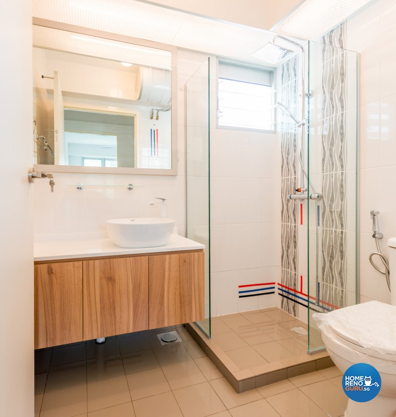 Modern, Scandinavian Design - Bathroom - HDB 4 Room - Design by Einstein Studio Pte Ltd