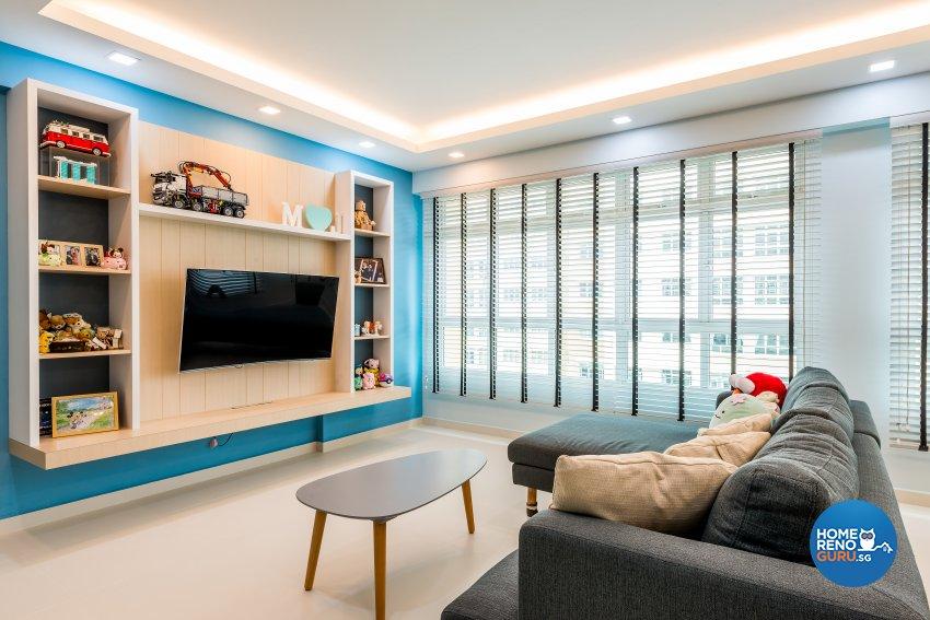 Scandinavian Design - Living Room - HDB 5 Room - Design by Einstein Studio Pte Ltd