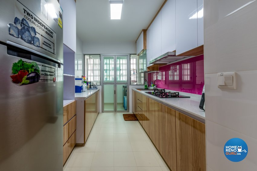 Resort Design - Kitchen - HDB 5 Room - Design by Einstein Studio Pte Ltd