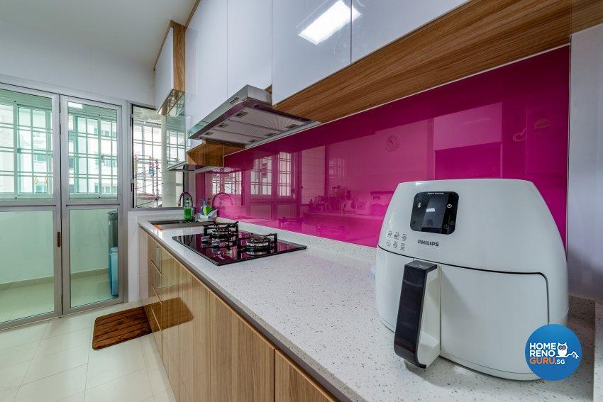 Resort Design - Kitchen - HDB 5 Room - Design by Einstein Studio Pte Ltd