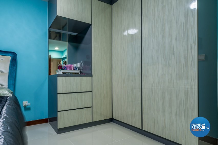 Resort Design - Bedroom - HDB 5 Room - Design by Einstein Studio Pte Ltd