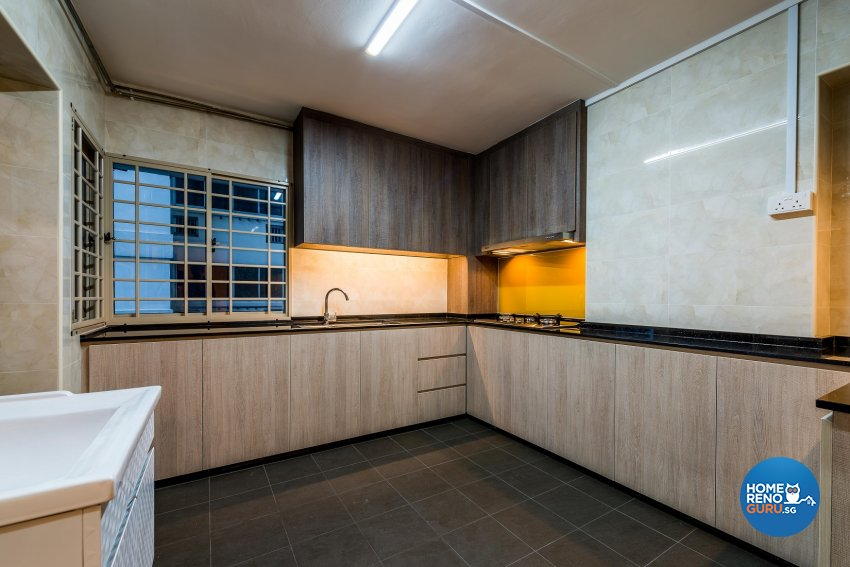 Modern Design - Kitchen - HDB Executive Apartment - Design by Einstein Studio Pte Ltd