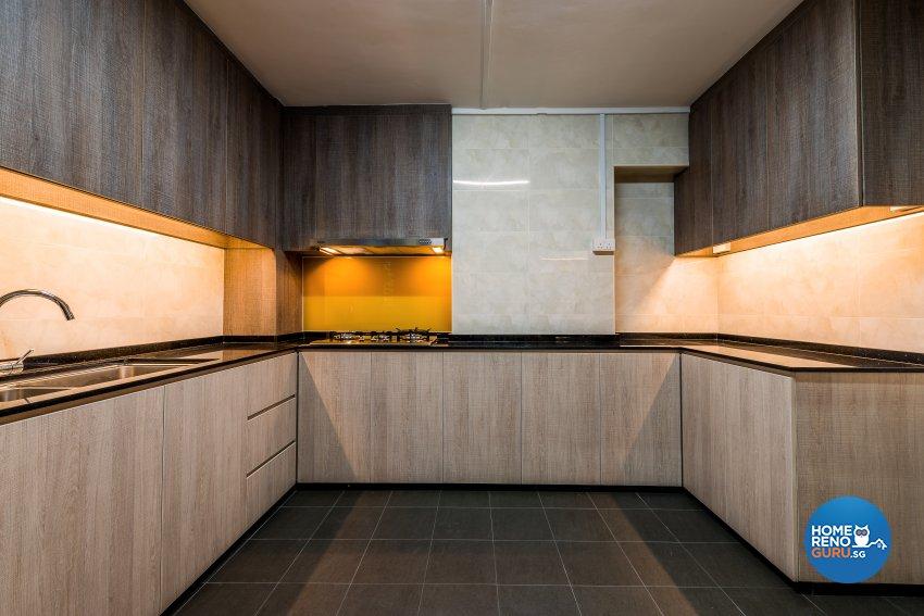 Modern Design - Kitchen - HDB Executive Apartment - Design by Einstein Studio Pte Ltd