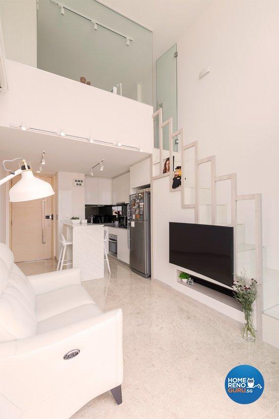 Minimalist Design - Living Room - Condominium - Design by Einstein Studio Pte Ltd