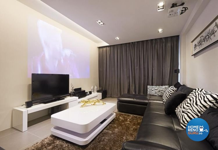 Minimalist, Modern Design - Living Room - Condominium - Design by Euphoric Designs