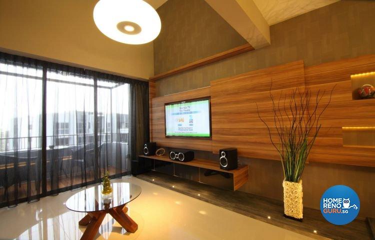 Country, Industrial, Minimalist Design - Living Room - Condominium - Design by Euphoric Designs