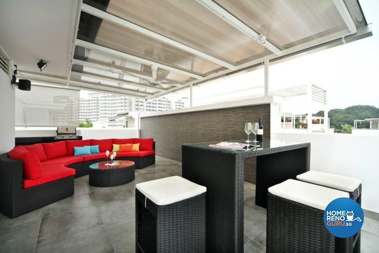 Contemporary, Minimalist Design - Balcony - Landed House - Design by Euphoric Designs