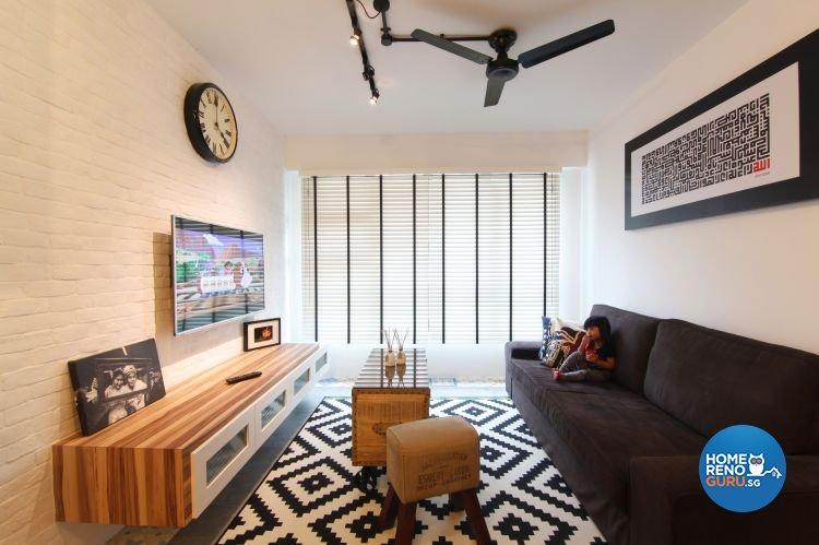 Eclectic, Scandinavian Design - Living Room - HDB 4 Room - Design by Euphoric Designs