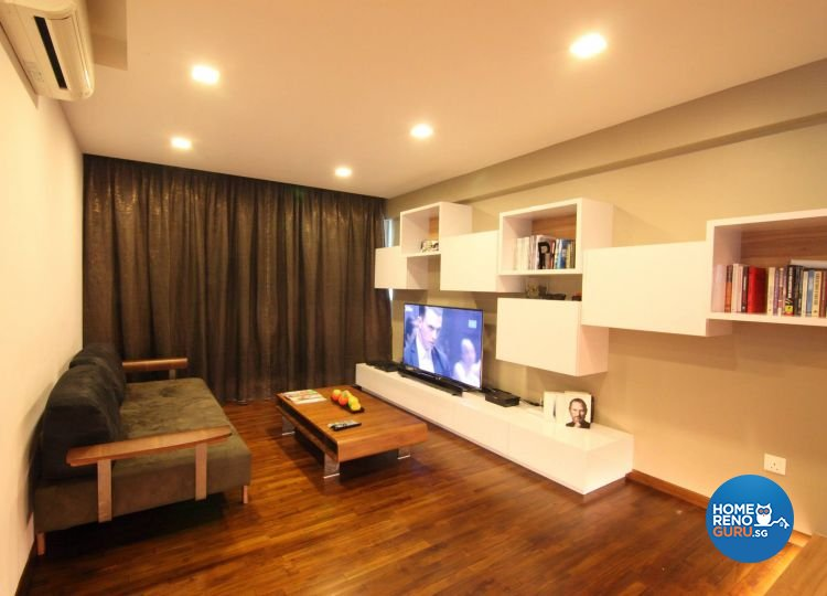 Contemporary, Minimalist, Modern Design - Living Room - HDB 5 Room - Design by Euphoric Designs