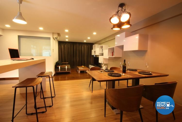 Contemporary, Minimalist, Modern Design - Dining Room - HDB 5 Room - Design by Euphoric Designs