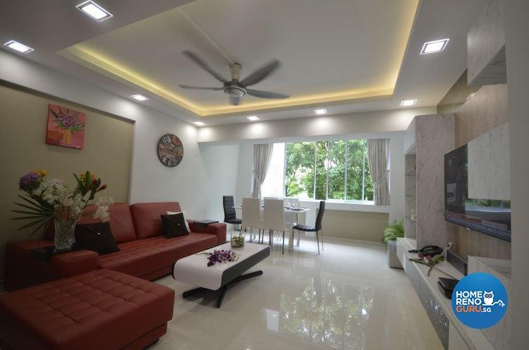 Contemporary, Scandinavian Design - Living Room - HDB 5 Room - Design by Everlink Interior & Furnishing Pte Ltd