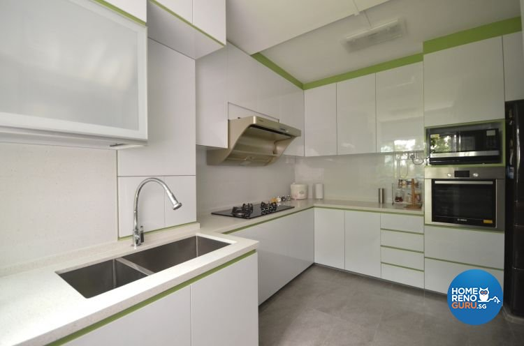 Contemporary, Scandinavian Design - Kitchen - HDB 5 Room - Design by Everlink Interior & Furnishing Pte Ltd