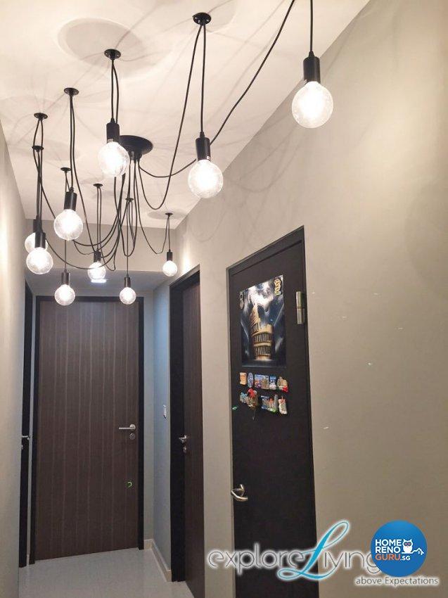 Scandinavian, Tropical Design - Living Room - HDB 5 Room - Design by Explore Living Concept Pte Ltd