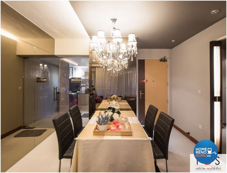 Modern Design - Dining Room - HDB 4 Room - Design by Fatema Design Studio