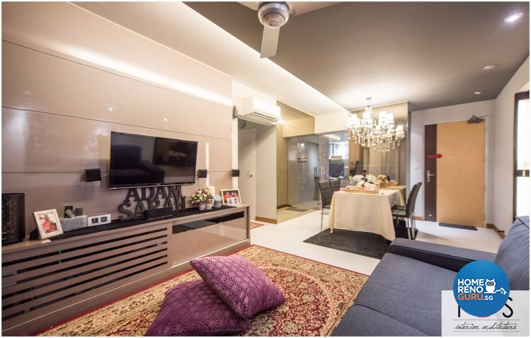 Modern Design - Living Room - HDB 4 Room - Design by Fatema Design Studio