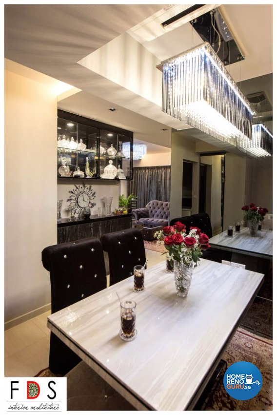 Classical Design - Dining Room - HDB 5 Room - Design by Fatema Design Studio