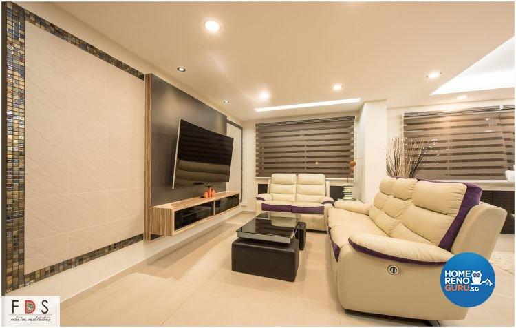 Modern Design - Living Room - HDB 5 Room - Design by Fatema Design Studio