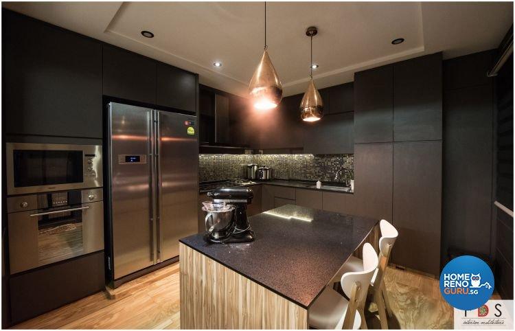 Modern Design - Kitchen - HDB 5 Room - Design by Fatema Design Studio